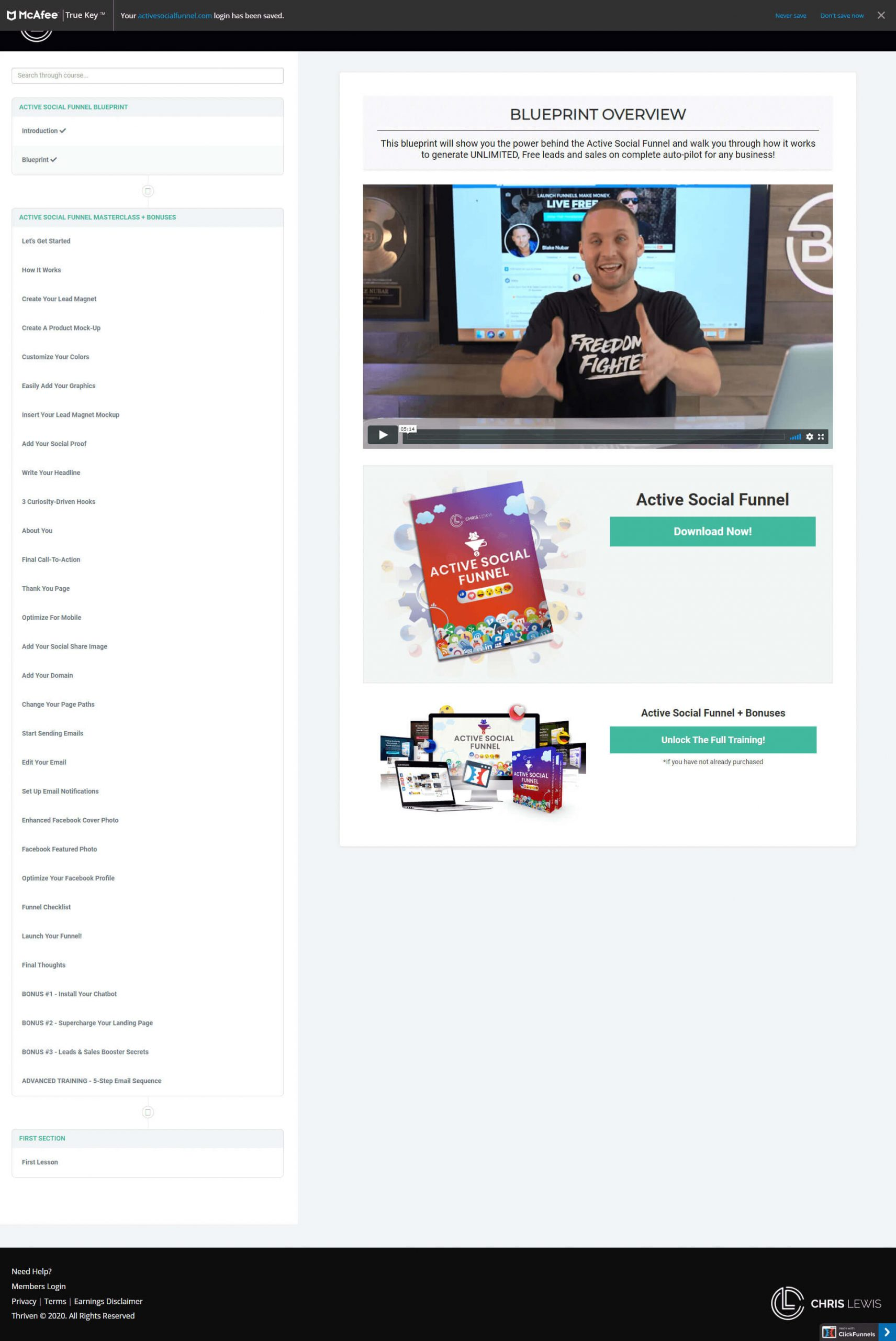 Active-Social-Funnel-Landing-Page